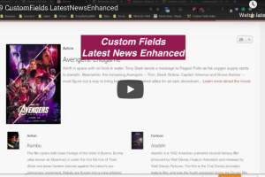 video customfield lne