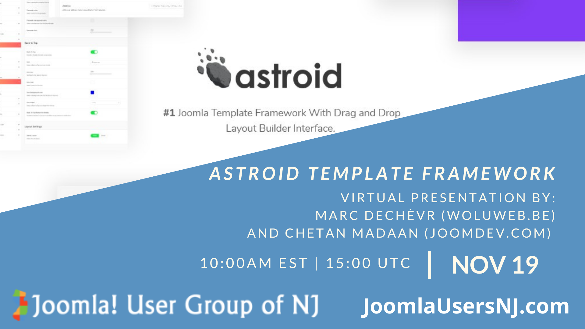 Joomla User Group Meeting - Astroid Framework